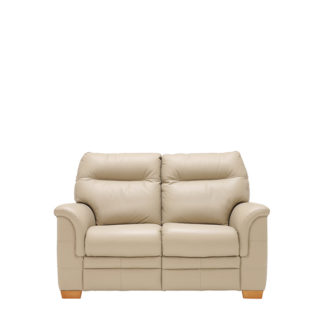An Image of Parker Knoll Hudson 2 Seater Sofa Leather - Barker & Stonehouse