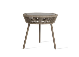 An Image of Vincent Sheppard Loop Outdoor Side Table Taupe Rope