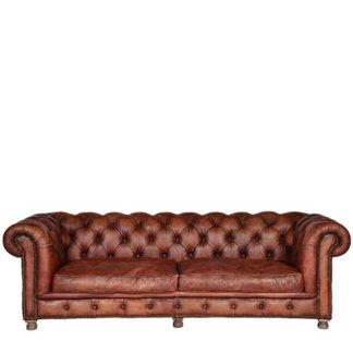 An Image of Timothy Oulton Westminster Feather 3 Seater Chesterfield Sofa Vagabon - Barker & Stonehouse