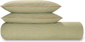 An Image of Souzo Cotton Duvet Cover + 2 Pillowcases, Double, Sage Green