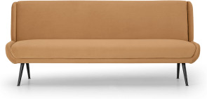 An Image of Moby Click Clack Sofa Bed, Apricot Velvet