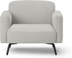 An Image of Toula Armchair, Hail Grey