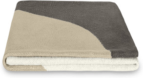 An Image of Jael 100% Cotton Knitted Throw, 130 x 170cm, Natural