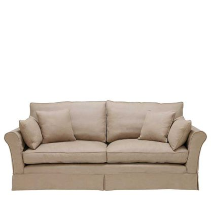 An Image of Berkeley Fabric Loose Covers Large Sofa - Barker & Stonehouse