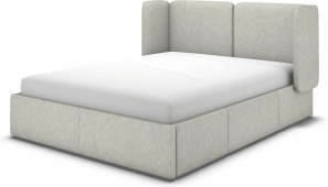 An Image of Ricola Super King Size Bed with Storage Drawers, Ghost Grey Cotton
