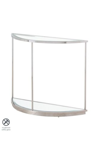 An Image of Rippon Silver Curved Console Table