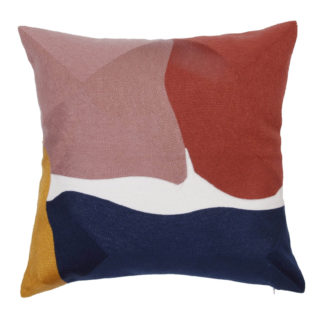 An Image of Abstract Cushion - Multi-coloured