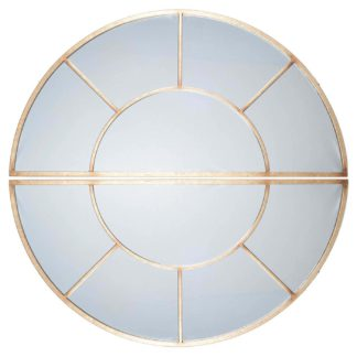 An Image of 2 Oval Section Wall Mirror, Antique Gold