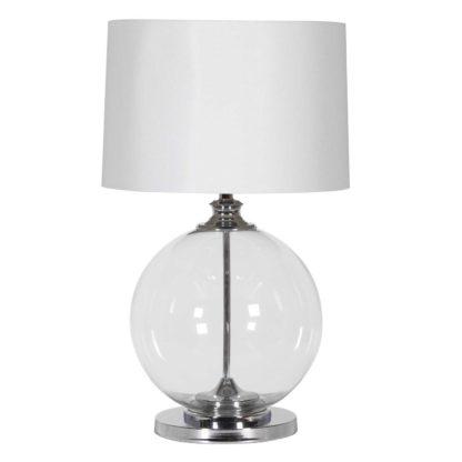 An Image of Glass Ball Table Lamp, Chrome