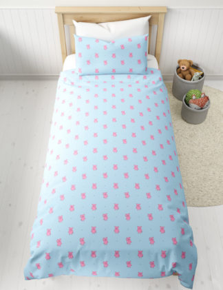 An Image of M&S Cotton Mix Percy Pig™ Bedding Set