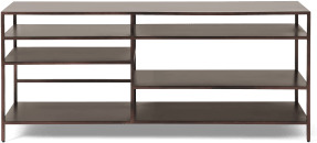 An Image of Munro TV Shelving Unit, Aged Bronze