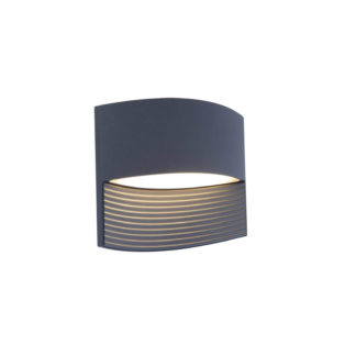 An Image of Lutec Lotus LED Up And Down Outdoor Wall Light In Dark Grey