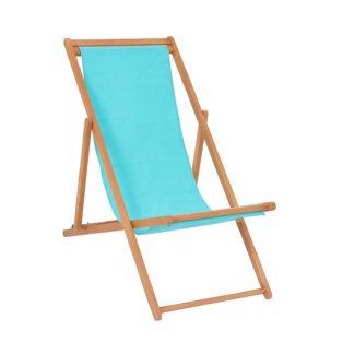 An Image of Homebase Deckchair - Blue