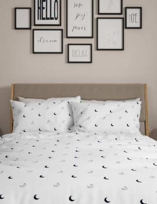 An Image of M&S 2 Pack Cotton Mix Moon Bedding Sets
