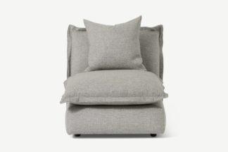 An Image of Fernsby Armless Modular Chair, Silver Recycled Weave