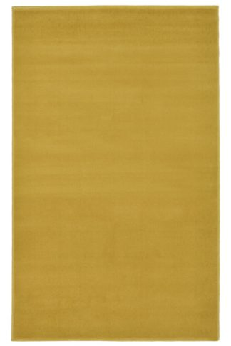 An Image of Homemaker Adorn Plain Rug - 60x110cm - Ochre