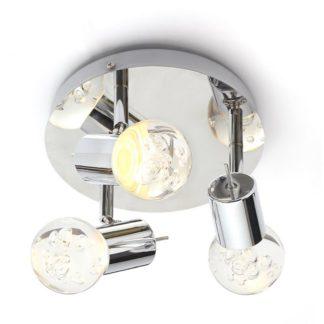 An Image of Bubble Triple Spot Bathroom Spotlight