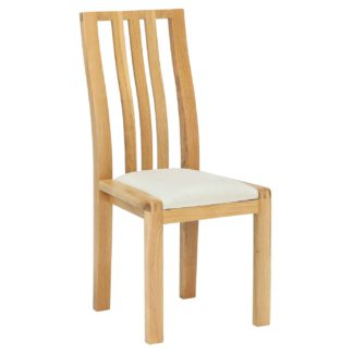 An Image of Ercol Bosco Dining Chair, Cream and Oak