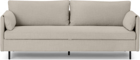 An Image of Hitomi Platform Sofa Bed, Oat Weave