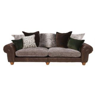 An Image of Melville Grand Split Frame Pillow Back Sofa, Stock