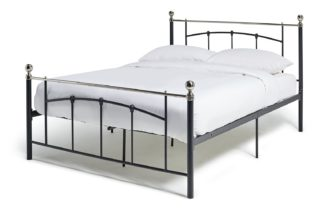 An Image of Habitat Yani Small Double Metal Bed Frame - Black