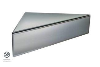 An Image of Inga Corner Smoke Mirror Floating Bedside / Shelf / Storage System