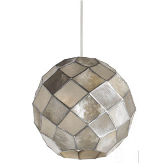 An Image of Capiz Ball Easy Fit Pendant Light Shade