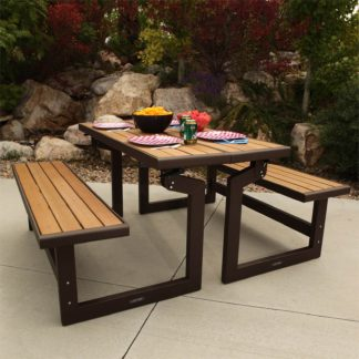 An Image of Lifetime Faux Wood Convertible Bench