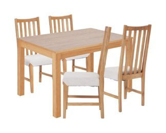 An Image of Habitat Clifton Wood Dining Table and 4 Rosmond Oak Chairs