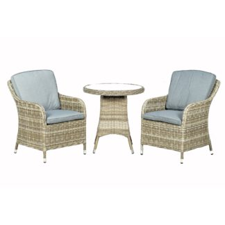 An Image of Wentworth 2 Seater Round Imperial Bistro Set Grey