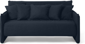 An Image of Medina Large Double Sofa Bed, Oxford Blue