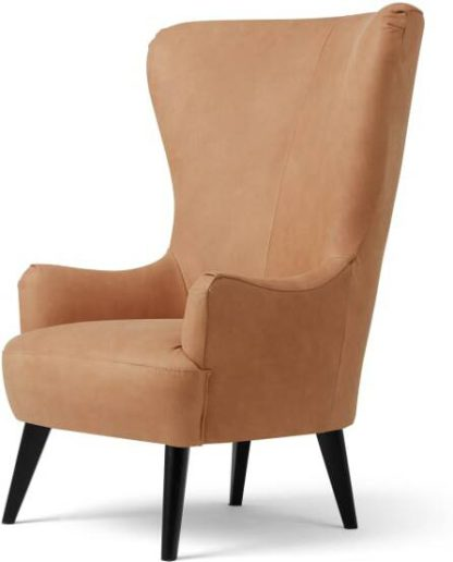 An Image of Bodil Accent Armchair, Tan Leather