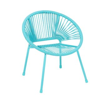 An Image of Homebase Acapulco Kids Chair - Blue