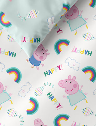 An Image of M&S Pure Cotton Peppa Pig™ Bedding Set