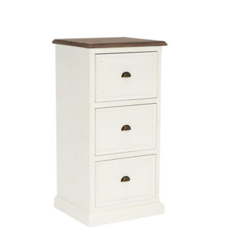 An Image of Berkshire Reclaimed Wood 3 Drawer Filing Cabinet