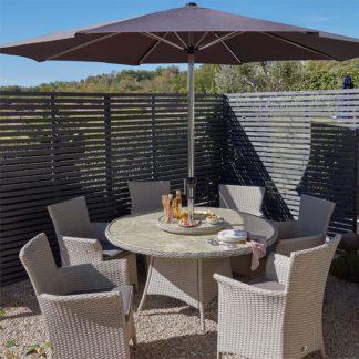 An Image of Cornbury 6 Seater Garden Dining Set