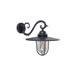 An Image of Lutec Lucy Outdoor Wall Lantern In Black