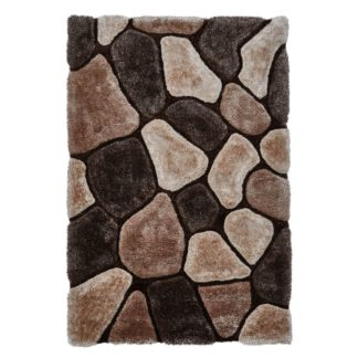 An Image of Noble House Pebbles Rug Brown