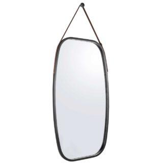 An Image of Black Oblong Mirror, Black