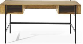 An Image of Morland Wide Desk, Light Mango Wood