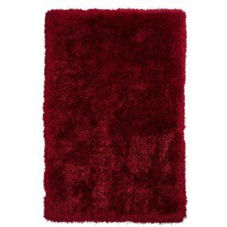 An Image of Montana Shaggy Rug Dark Red