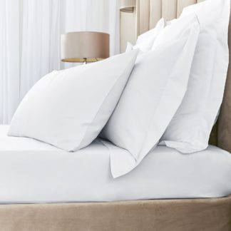 An Image of Hotel Egyptian Cotton 230 Thread Count Sateen Fitted Sheet White