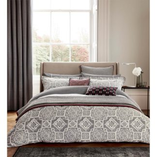 An Image of Amaya Duvet Cover - Double - Charcoal