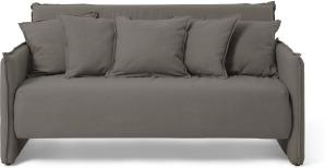 An Image of Medina Large Double Sofa Bed, Metropolis Grey