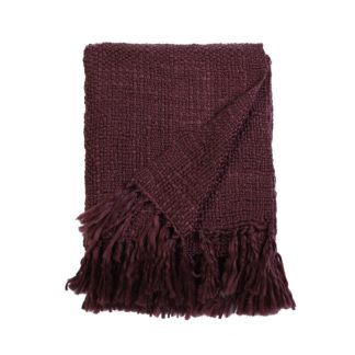 An Image of Country Living Boucle Throw - 130x150cm - Grape