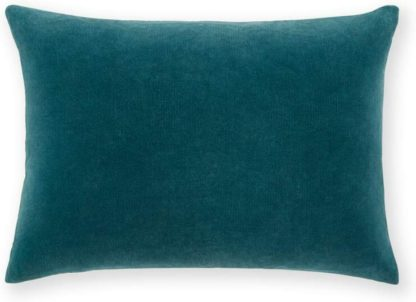 An Image of Lorna Velvet Cushion 35 x 50 cm, Agean Blue