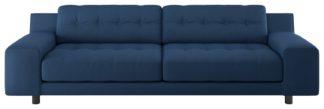 An Image of Habitat Hendricks 4 Seater Fabric Sofa - Blue