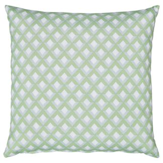An Image of Homebase Outdoor Scatter Cushion in Geometric Green