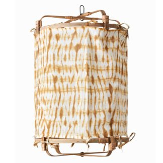 An Image of Hanging Tie Dye Decorative Shade, Mustard