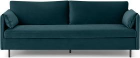An Image of Hitomi Platform Sofa Bed, Steel Blue Velvet